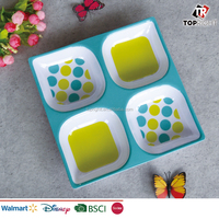 New arrival melamine square chip and dip tray