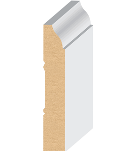 Factory price 623 base board MDF Primer trim moulding home detective skirting