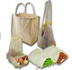 ORGANIC COTTON FABRIC REUSABLE GROCERY ORGANIC PRODUCE NET SIMPLE ECOLOGY FRUIT VEGETABLE CROTCH COTTON MESH STRING BAG