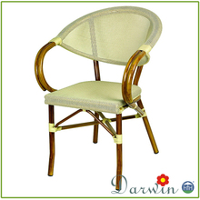 Bamboo looking painting patio outdoor fabric mesh garden chairs