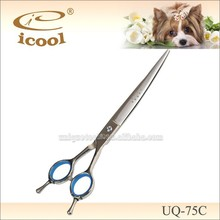 UQ-75C 7.5 inch Curved blade SUS440C Stainless Steel dog grooming curved shears