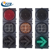 300mm LED traffic signal light with arrow countdown timer, 12 inch Red Green Yellow LED traffic signals