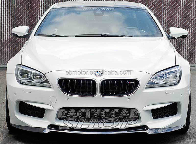 V Style Real Carbon Fiber Front Lip Spoiler Fit For BMW 6-Series F06 F12 F13 M6 Bumper 2012 UP B117