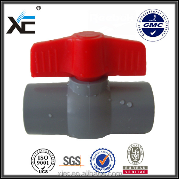 Queen quality plastic drain valve cpvc ball valve with comfortable feel