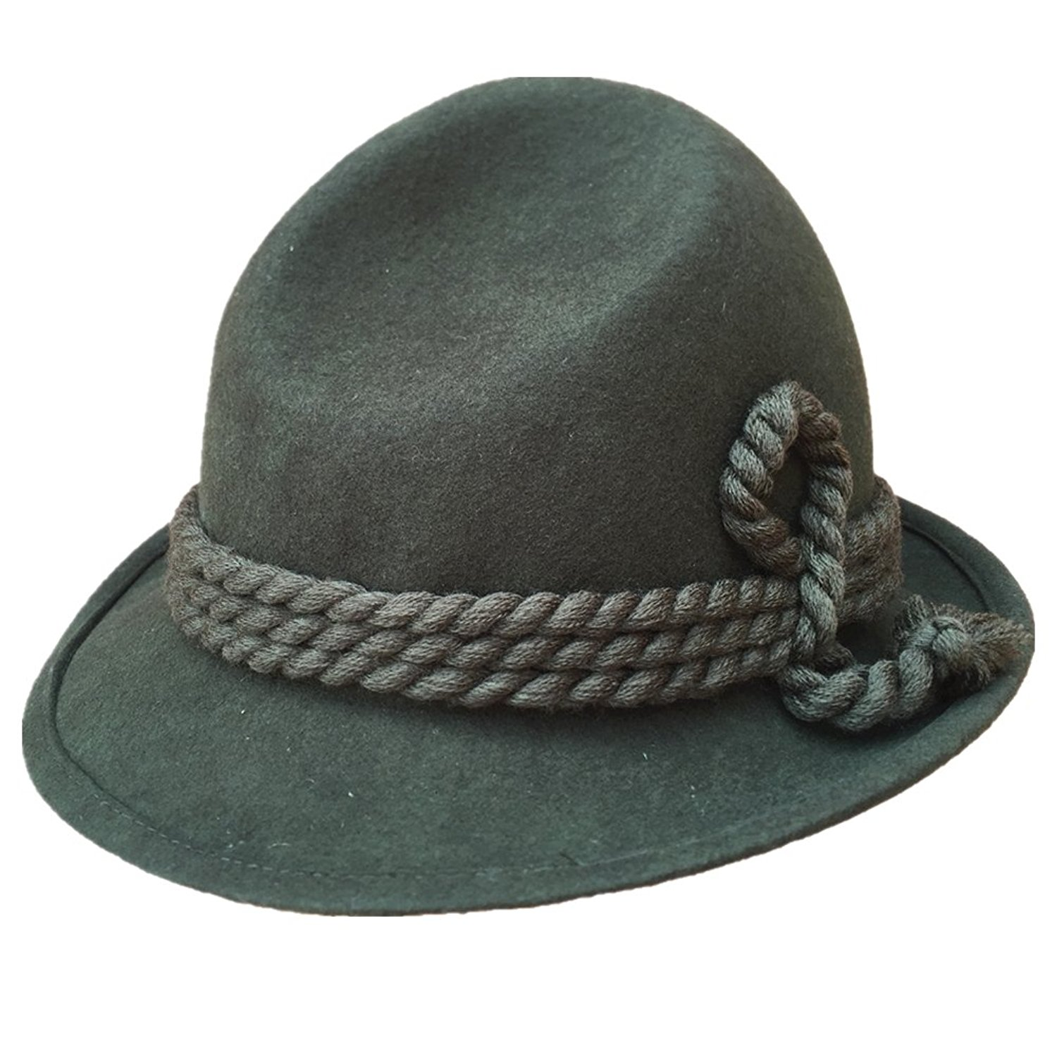 Get Quotations · Green Tyrolean Hat Oktoberfest Wool Felt Bavarian Alpine  Chapeau Fedora Rope Hat 395ada70d57a
