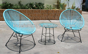 Acapulco Chair Outdoor Turquoise With Four Legs / Leisures Patio Style
