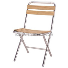 Wicker Folding Chair aluminum frame