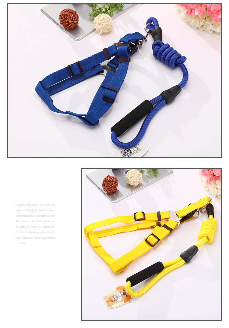 Wholesale promotion Chain Nylon Elastic Tactical Bungee dog leads with collar