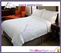 wholesale white plain percale hotel bed linen , plain hotel bedding made of 200TC white plain percale fabric