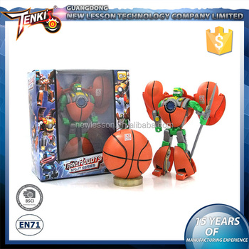 Basketball Pattern Transformable Hot Sale Robot Child Robot Toy