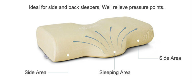 Growth Head Massage Anti Slip Decorative Ergonomic Head Neck Position Lash Eyelash Memory Foam Pillow