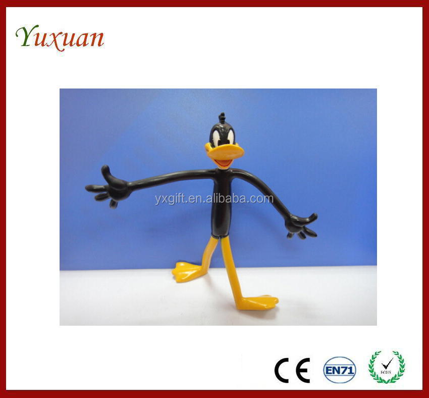 Custom pvc bendable wire toy,OEM plastic wire movable toy figure
