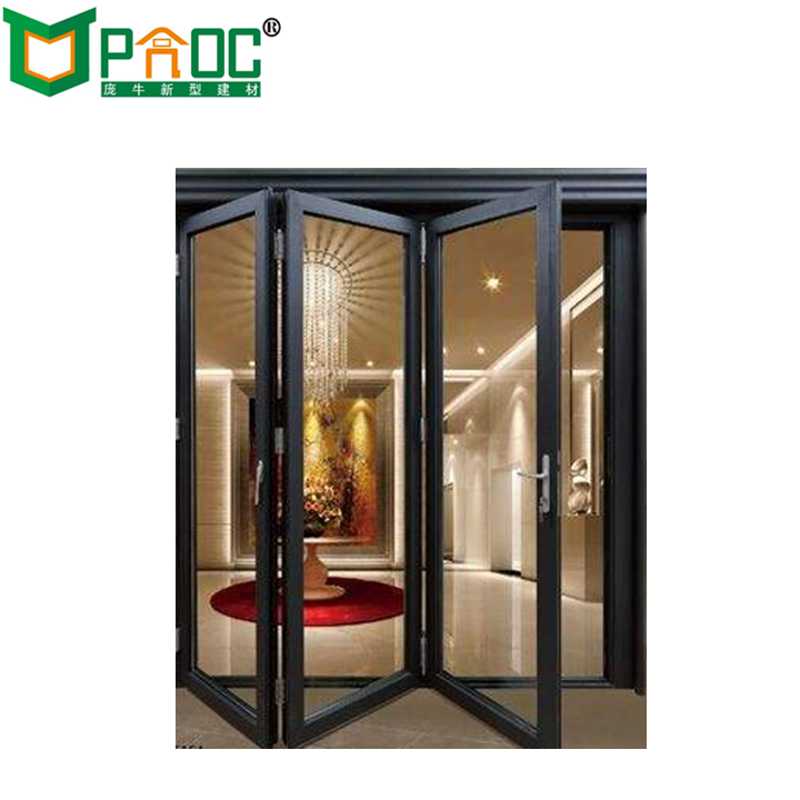 Cheap Price Accordion Glass Doors Soundproof Folding Interior Door