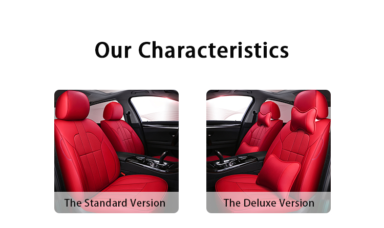 ZT-P-037 red luxury universal car seat cover genuine leather for vw