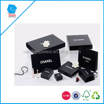 Top Grade Black Color Paper Jewelry Box For Chanel Jewelry Buy