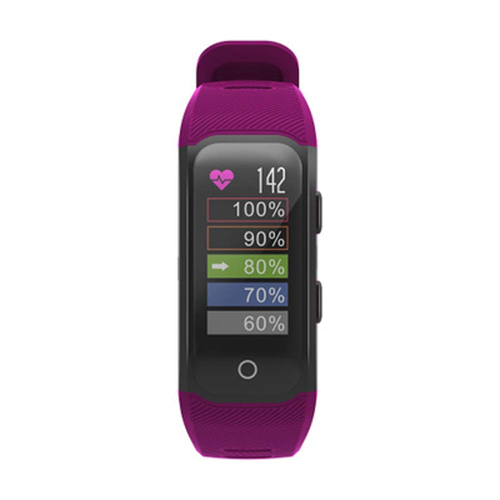 YWY Bluetooth Watch Phone with Heart Blood Oxygen Monitor Step Counter Activity Tracker Sleep Monitor Waterproof IP68 Activity Tracker Smart Watch (Color : Purple)