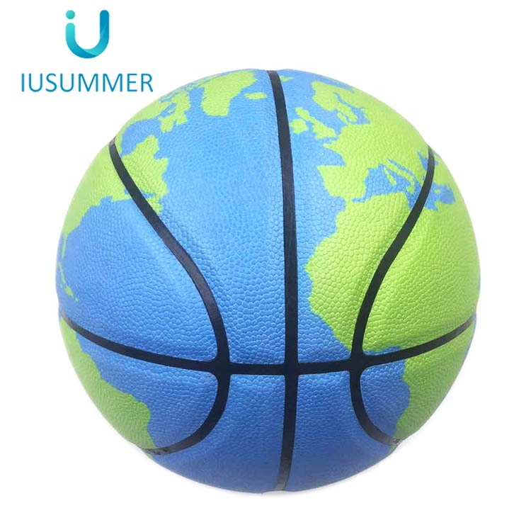 Interesting Earth Pattern Basketball for School Teaching