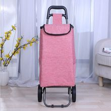 Wholesale vegetable trolley shopping bag, customized shopping trolley bag with 2 wheels