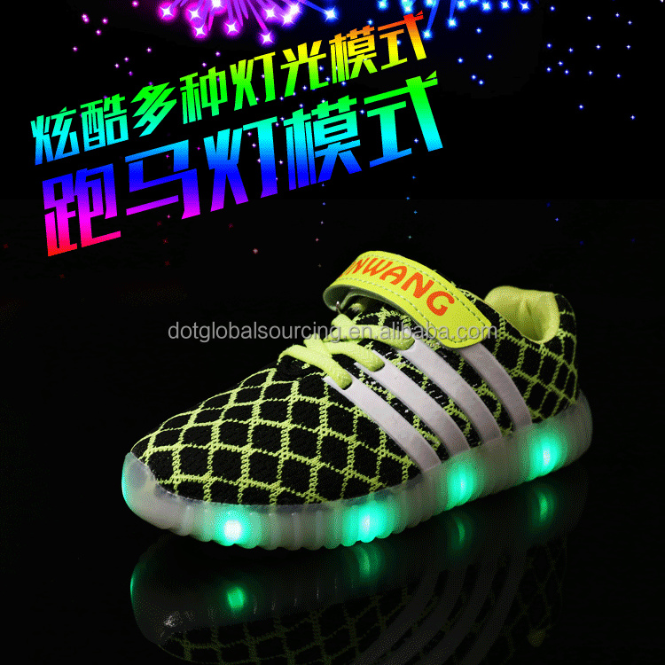 Lastest Children USB Charging Light Flashing LED Sneaker Glow led Shoes Kids