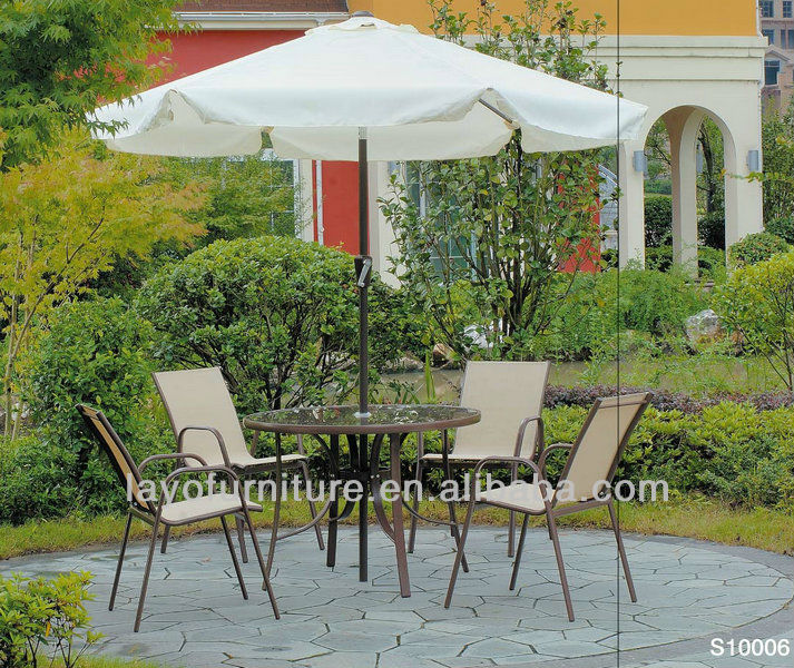 Alum Chair With 1x1 restaurant bistro set waterproof material for outdoor furniture