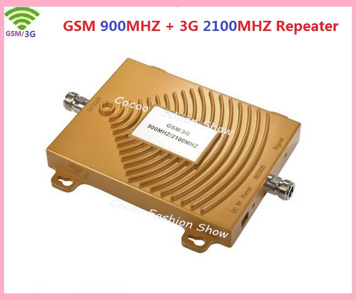 GSM 3G Repeater Dual Band Booster 65dbi Mobile Signal 3G GSM Booster 900 2100 Amplifier 3G