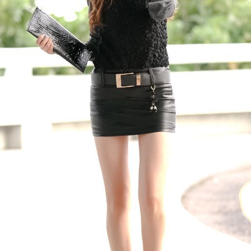 40febad70fd74 Get Quotations · 2015 New Leather XL Womens Pu Skirt Plus Size Sexy Mini  Skirt Black Shorts Skirt Faldas