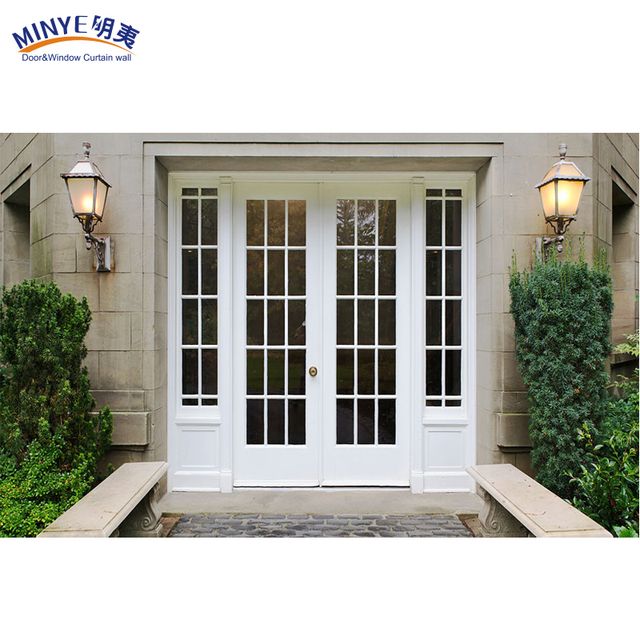 Hot Selling Cheap Custom UPVC Wood Color Cheap PVC Small Exterior Door, PVC  Casement Door