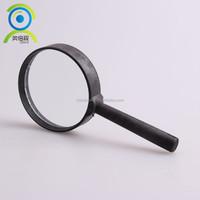 Good-sale 3X60 Straight-shank Black plastic Magnifier,Plastic magnifying glass