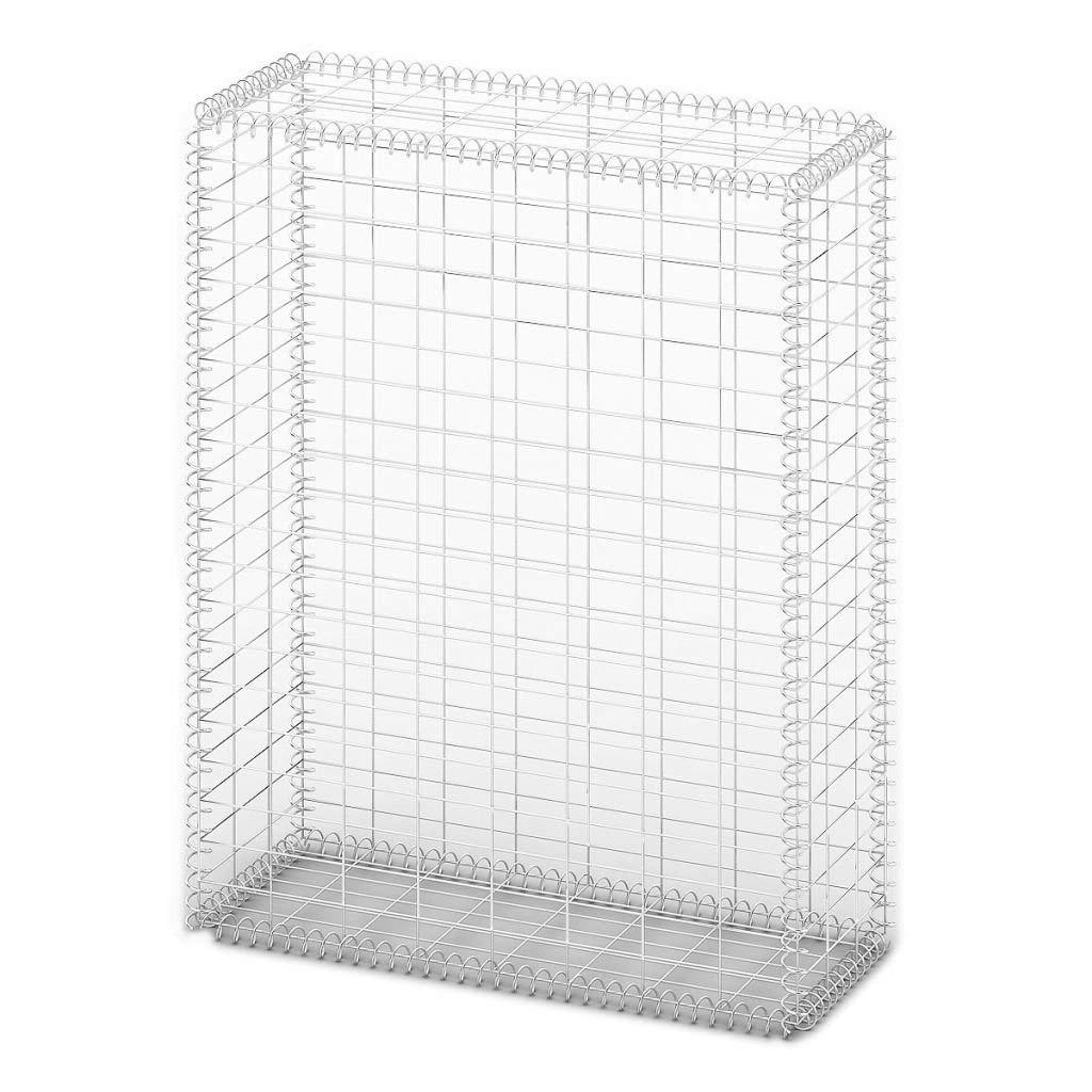 """Festnight Gabion Basket Wall with Lids Galvanized Wire 39.4"""" x 31.5"""" x 11.8"""""""