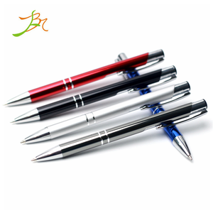 2019 new product customized three circle pattern bevel press aluminum rod neuter business gift paragon ballpoint pen