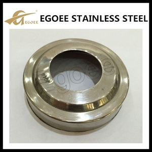 Stainless steel pipe base plate/threaded base plate/handrail base plate