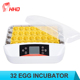 2017 Unique incubator HHD solar energy egg incubator with LED egg tester YZ-32S