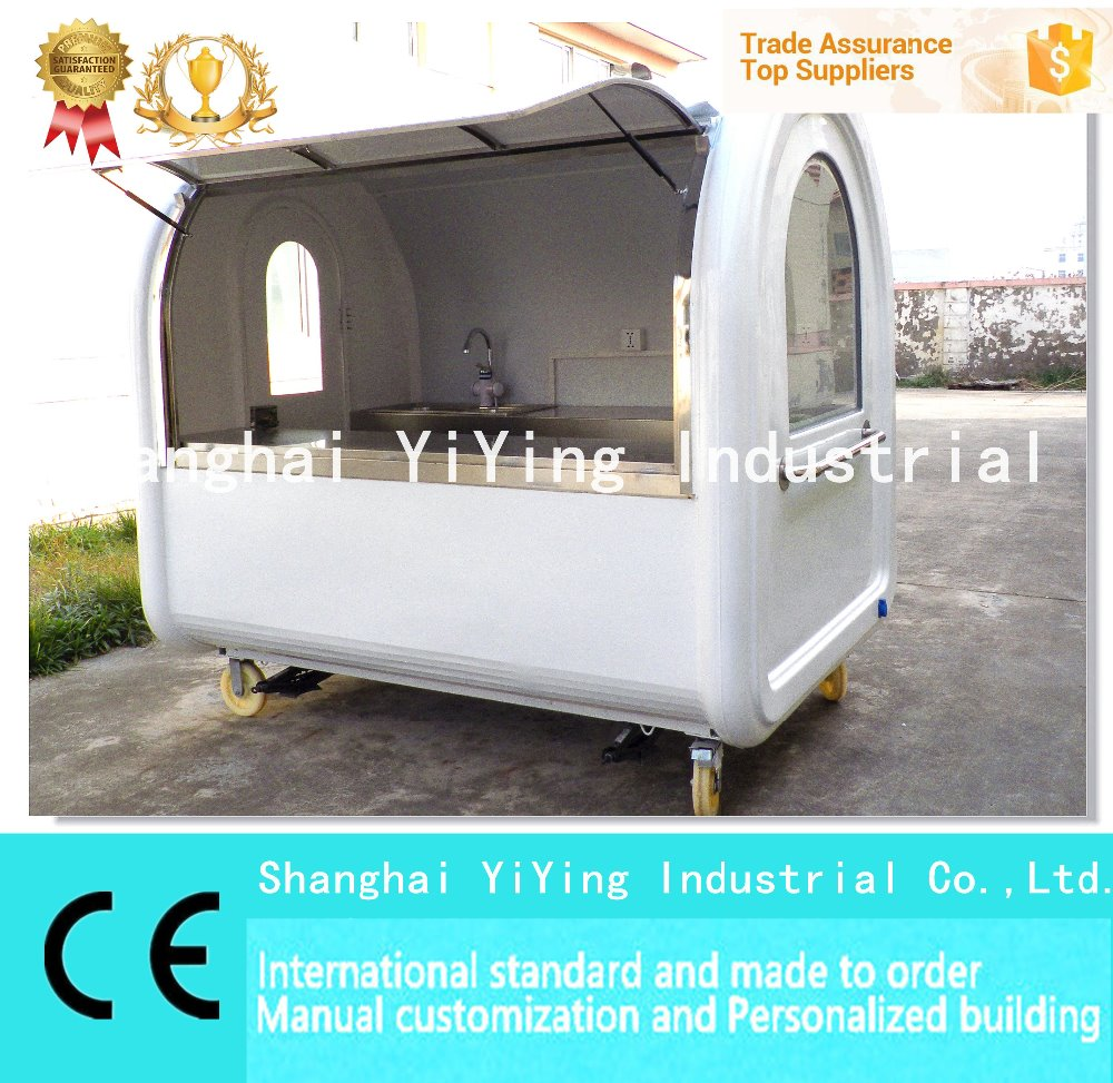 Commercial plate warmer street design outdoor fast food kiosk for sale