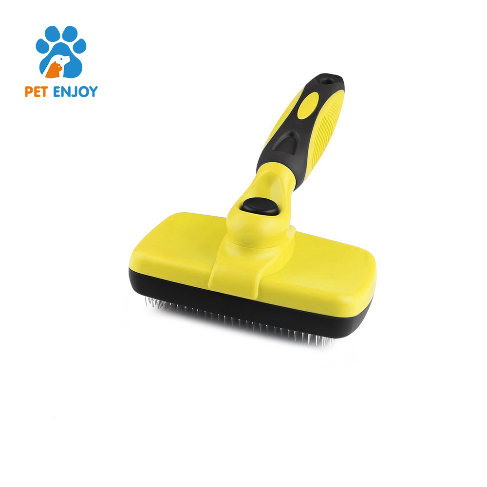 Hot selling 2017 amazon bamboo pet brush tool cleaning brush pet deshedding tool pet for dogs