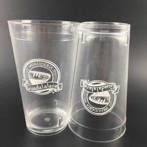 Clear Acrylic Tumblers Plastic glass for For Water, Iced Tea,Cocktails, Beer, Beverages