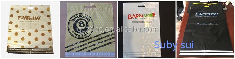 Matte black courier bag mailer poly mail bag for return