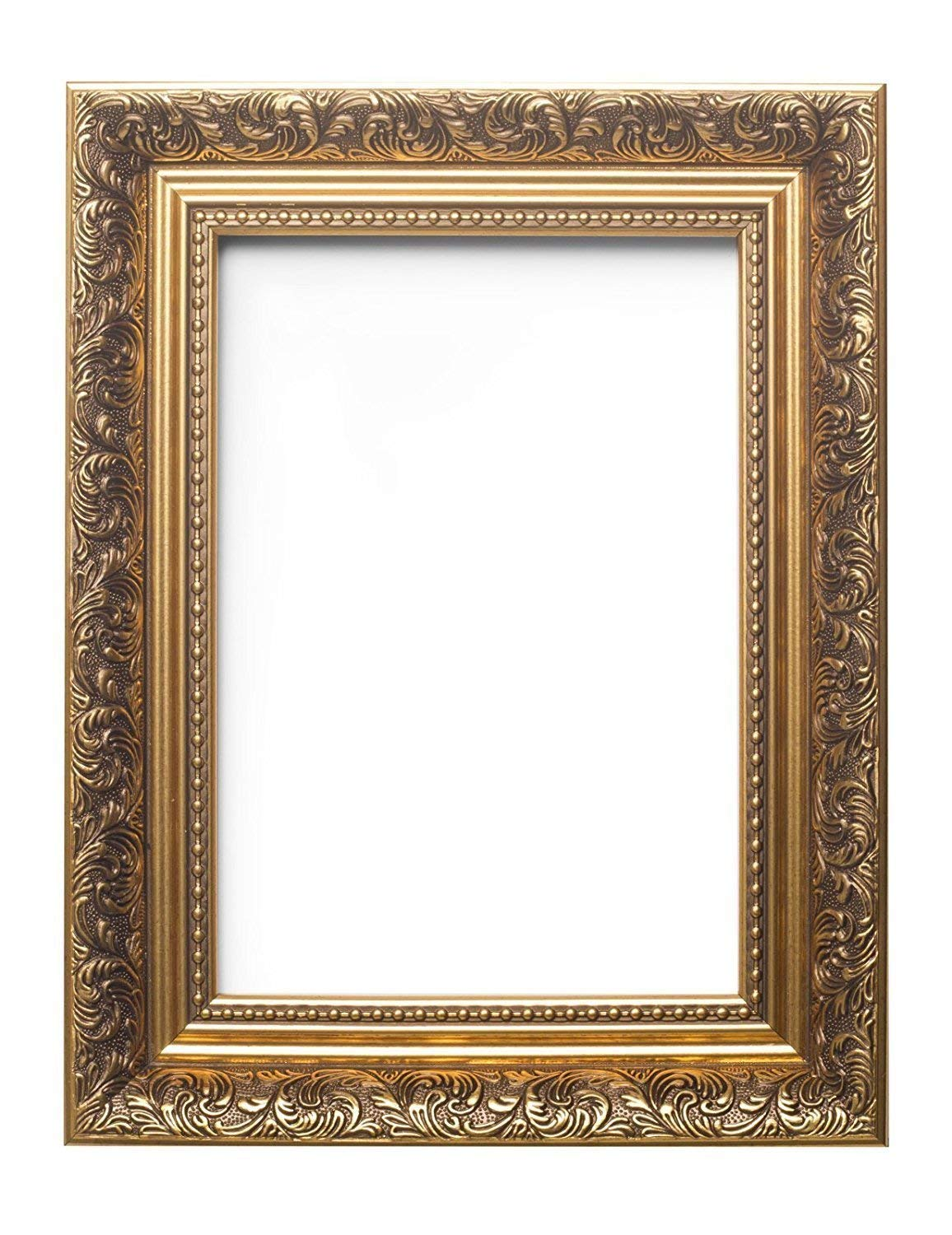 """Paintings Frames Ornate Swept Antique Style French Baroque Style Picture Frame/Photo Frame/Poster Frame With A High Clarity Styrene Shatterproof Perspex Sheet 36""""X24"""" Gold"""