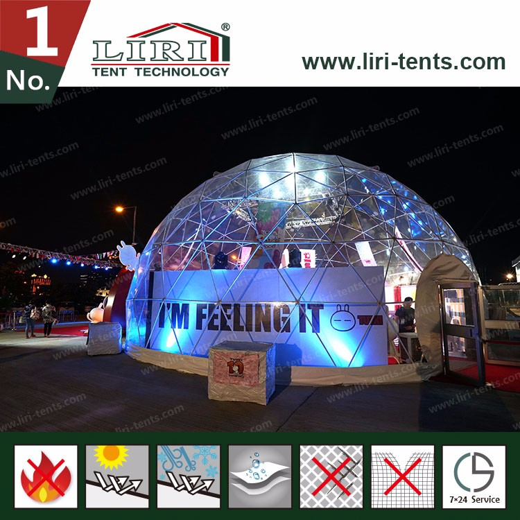 Snow Dome Life Size Snow Globe Clear Inflatable Dome For Live Show
