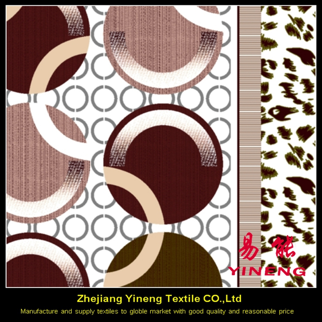 custom 100% polyester woven pongee printing mattress fabric