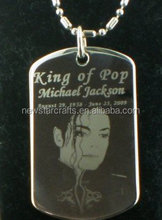 Michael Jackson RIP dog tag pendant necklace dogtag