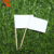 custom design small white checkered flag wooden toothpick flag