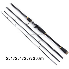 Fulljion 1,8/2,1/2,4/2,7/3,0 mt Carbon Fiber Rod Spinning Angelruten