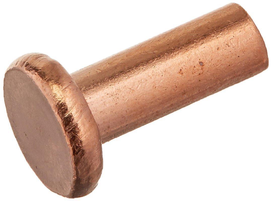 uxcell 20 Pcs 15//64 x 25//64 Flat Head Copper Solid Rivets Fasteners