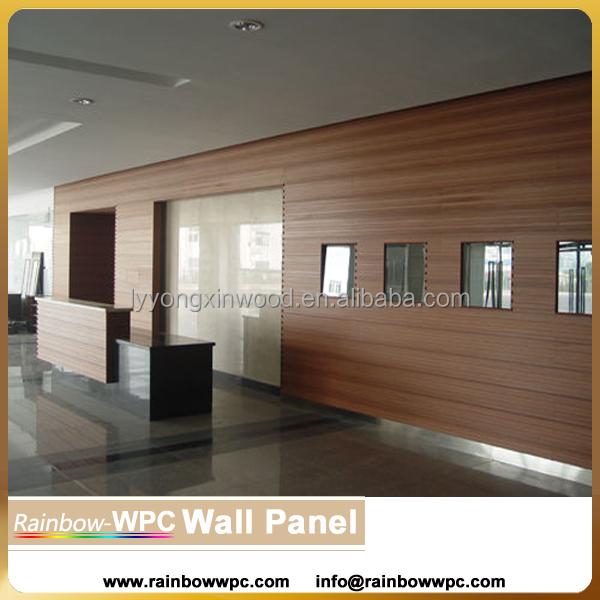 Wpc pvc int rieur panneau mural rev tement bois plastique - Panneau bois decoratif interieur ...