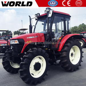 WORLD 100hp agricultural machine kubota type farm tractor with farm implements
