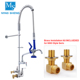 High Quality Professional OEM Wall Mounted Commercial Industrial Kitchen Brass Pre-Rinse UPC Spray Unit Sink Faucet
