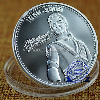 Custom MJ Gift Fans king of the POP music gold plated Michael Jackson coin