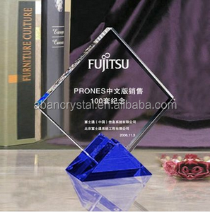 wholesale Custom different glass award design,blank glass crystal award trophy