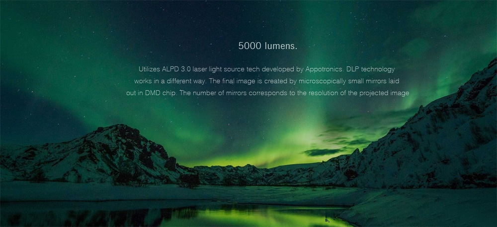 Original Xiaomi Mijia Laser Projector TV 150 Inches 1080 Full HD 4K Wifi 2.4G/5GHz Bluetooth 4.0 Support DOLBY DTS 5000 Lumens