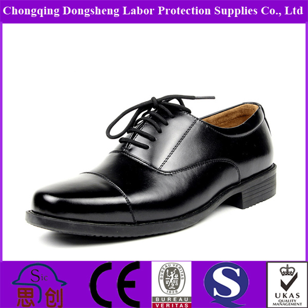 Full Genuine Leather Men Police Shoes Military Shoes